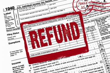 refund stamp on tax form
