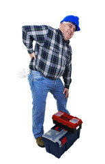 Workman with back pain