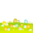 Easter Card Meadow Eggs Blue