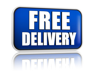 free delivery blue banner