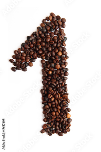 1 - number from coffee beans