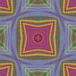 Seamless funky pop-art pattern with optic illustion