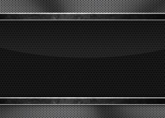 Black background of carbon fibre texture