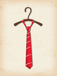 Red tie, father day greeting card