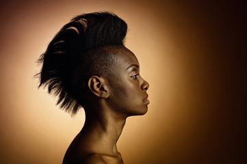 Fashion Aufnahme Afrikanische Schönheit attraktiv