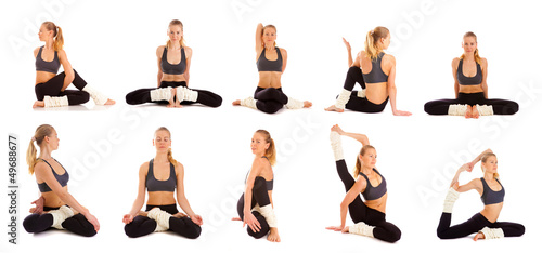 set,yoga, isolated