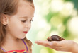 litle girl with snail