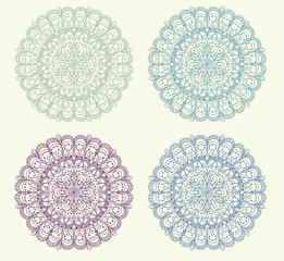 Set of vintage ornament background vector