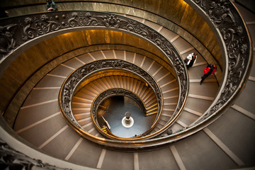 Spiral Staircase in Vatican Museum, Rome, Italy