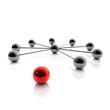 3D Grafik / 3D Illustration: Network und Social Media