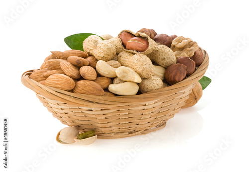 set of nuts on white