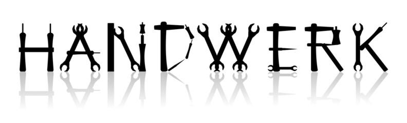 Handwerk - kreativer Schriftzug