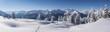 Leinwandbild Motiv Winterpanorama in den tief verschneiten Bergen