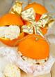 Orangenmakronen hübsch verpackt