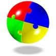 Puzzle - Kugel, Projekt - Teilbereiche