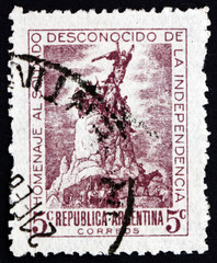 Postage stamp Argentina 1946 Monument to Army of the Andes, Mend