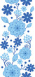 Raster Delft blue Holland flowers elegant vertical seamless
