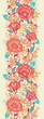 Raster colorful vibrant flowers elegant vertical seamless