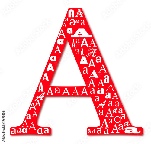 "Graphic sign ""A"""