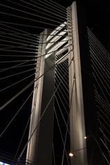 Detail of Basarab Bridge, Bucharest, Romania