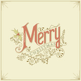 Vintage Christmas Card - Vector EPS10.