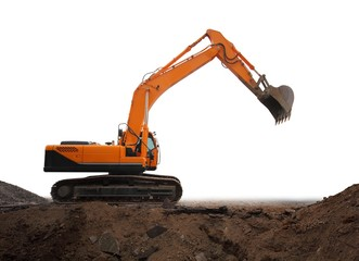 Isolated excavator