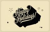 Typographic Retro Vintage Christmas background poster