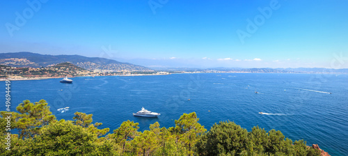 Cannes bay view. French Riviera, Azure Coast, Provence