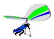 Hang Glider White on Ramp