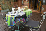 Colourful breakfast table in South Africa