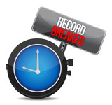 clock with words Record Breaker