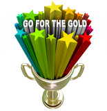 Go for the Gold Trophy Positive Attitude and Ambition poster