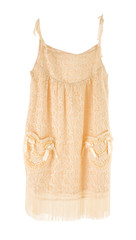 Nude lace nightgown