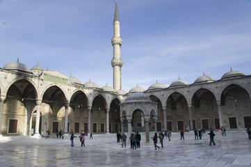 Squre of the Blue mosk in Istanbul