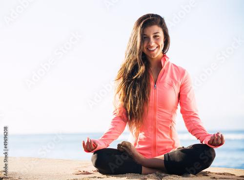 Leinwand Poster Morgen-Meditation