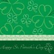 Happy St. Patrick's Day hand drawn shamrock card in vector forma