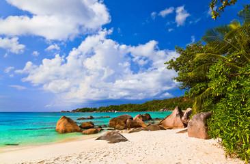 Beach Anse Lazio at island Praslin, Seychelles