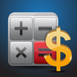 calculator and dollar icon