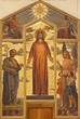 Verona -  Heart of Christ painting form 19.cent. in San Zeno