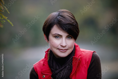 A portrait of a woman in autumn time