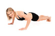 Young fit woman doing push-ups