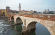Verona - Pietra bridge  - and Duomo tower and San Giorgio