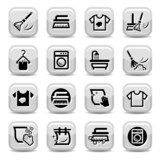 cleaning and washing icons set