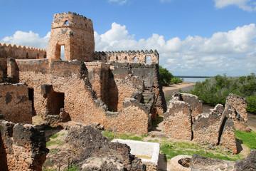 Ruins of Kilwa Kisiwani in Tanzania
