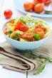 Italian pasta with cherry tomatoes and herbs
