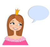 Princess conversation. Cartoon character