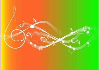 Music theme background with musical note
