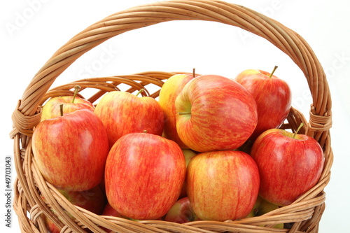 Wicker with apples