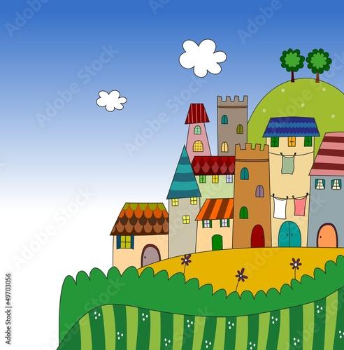 Fototapete Charakter - Kinder - Dorf