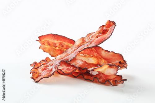 Leinwandbild Motiv Fried bacon strips